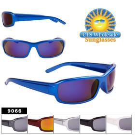 Bulk Sport Sunglasses - Style #9066 (Assorted Colors) (12pcs.)