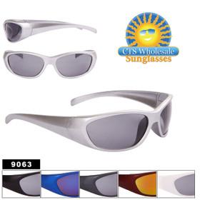 Wholesale Sport Sunglasses - Style #9063 (Assorted Colors) (12pcs.)