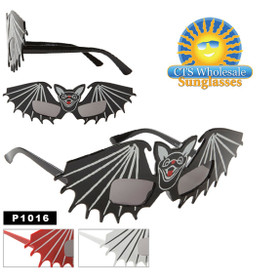 "Party Glasses ""Bats""  ~ P1016 (12 pcs.) (Assorted Colors)"