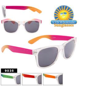 Mirrored California Classics Wholesale Sunglasses 9035 (Assorted Colors) (12 pcs.)