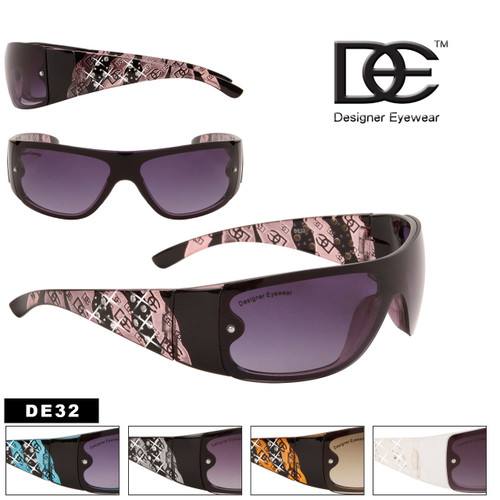 Bulk Women's Rhinestone Sunglasses - Style #DE32
