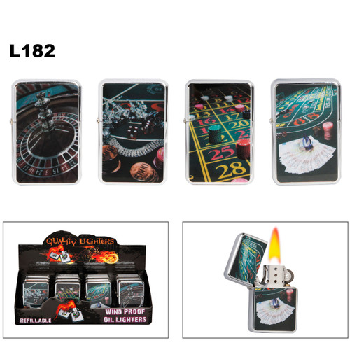 Oil Lighters ~ Assorted Casino Games ~ L182