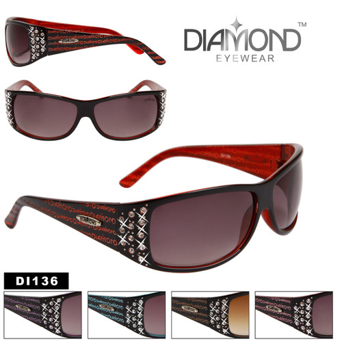 Diamond™ Eyewear Wholesale Rhinestone Sunglasses - Style # DI136
