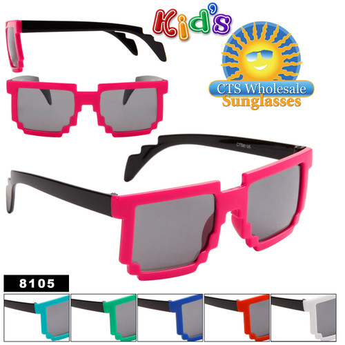 Wholesale Kid's Pixel Sunglasses - 8105