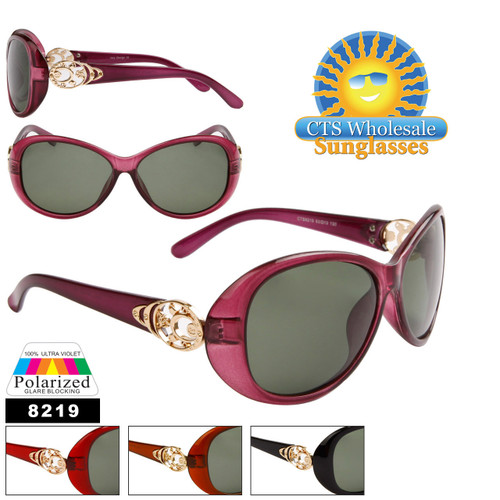 Wholesale Women's Polarized Fashion Sunglasses - 8219 (Assorted Colors) (12 pcs.)