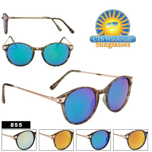 Wholesale Women's Mirrored Sunglasses - Style #855