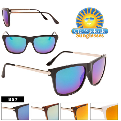 Mirrored Bulk Sunglasses - Style #857