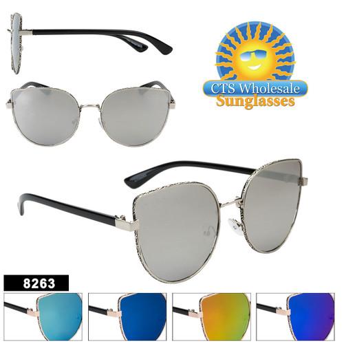 Women's Mirrored Retro Sunglasses - Style #8263