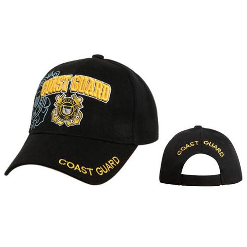 Black Coast Guard Wholesale Cap