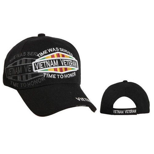 Wholesale Vietnam Veteran Cap-Black
