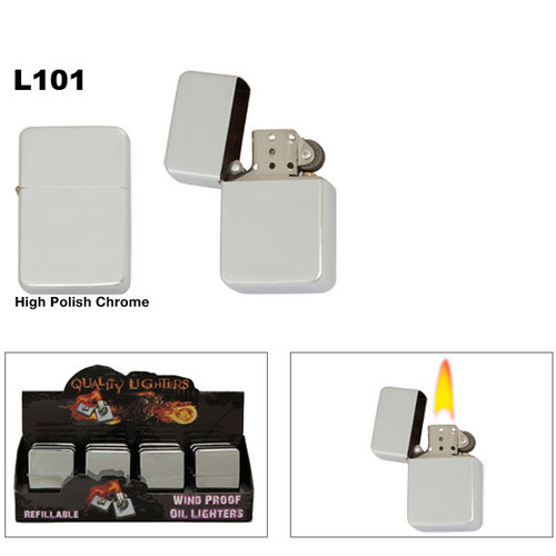 High Polish Chrome Oil Lighters