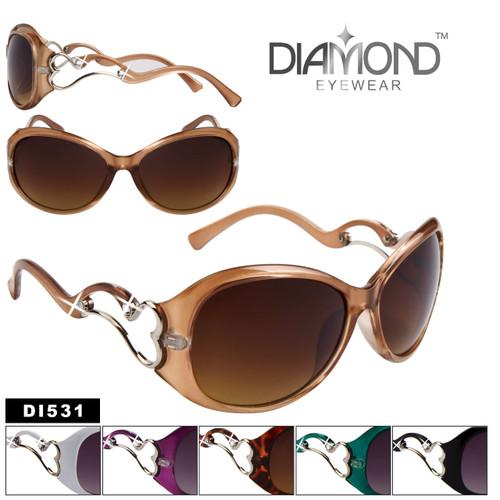 Diamond Eyewear Heart Frame Sunglasses DI531