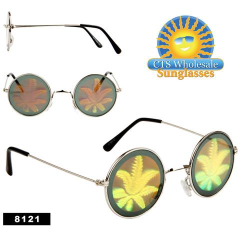 Pot Leaf Hologram Sunglasses 8121
