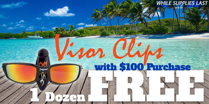 1 Dozen Free Visor Clips!