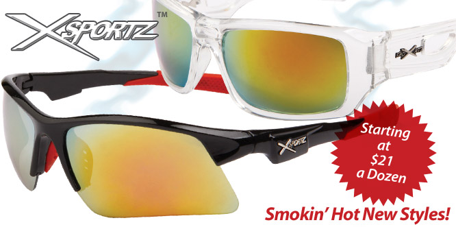Xsportz™ Wholesale Sports Sunglasses