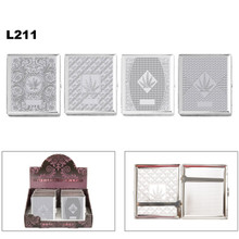 Chrome Pot Leaf Cigarette Cases L211