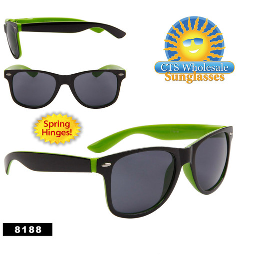 California Classics Sunglasses by the Dozen - Style # 8188 (12 pcs.) Spring Hinge