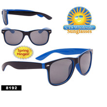 California Classics by the Dozen - Style # 8192 Spring Hinge Black/Blue