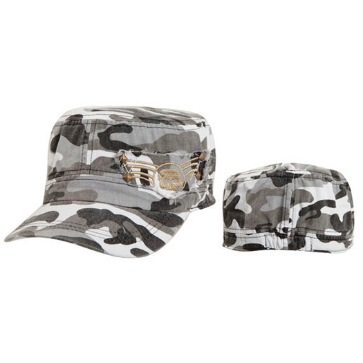 Grey Camo Army Hat