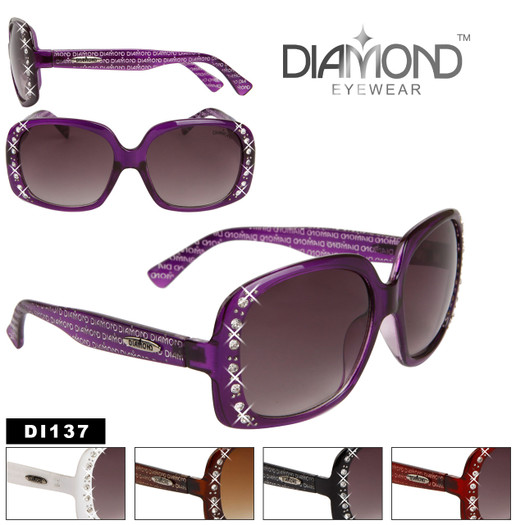 Diamond™ Eyewear Rhinestone Sunglasses by the Dozen - Style # DI137