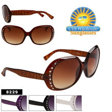 Animal Print Rhinestone Sunglasses 8229