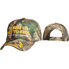 "Wholesale Baseball Cap C6006 ""To Fish or Not to Fish…What a stupid question"""
