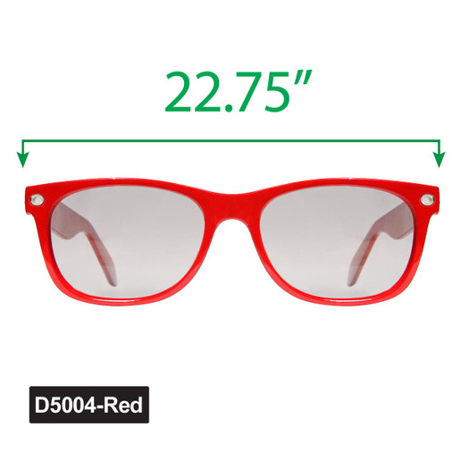 Large Wayfarer Sunglasses - Display D5004-Red