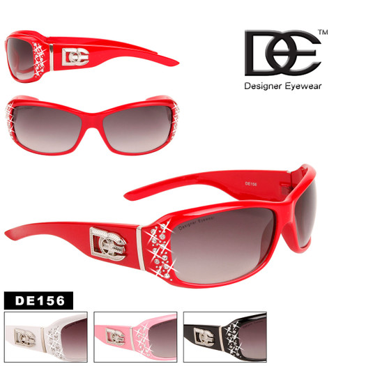 Wholesale Women's Sunglasses with Rhinestones - Style #DE156
