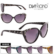 Bulk Cat-Eye Rhinestone Sunglasses - Style #DI605