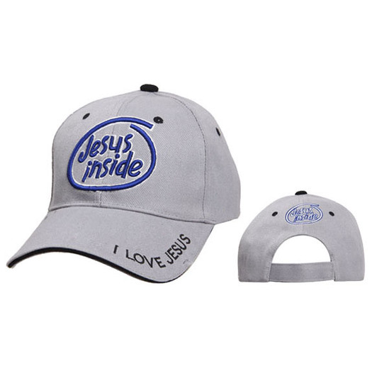 Jesus Inside Wholesale Christian Baseball Cap-Grey