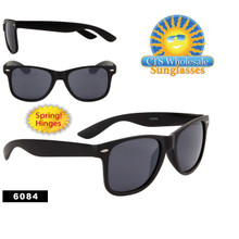 Matte Black Wholesale California Classics - Style #6084 Spring Hinge (12 pcs.)