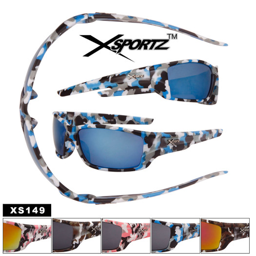 Camo Xsportz™ Sports Sunglasses Wholesale- Style #XS149