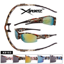 Wholesale Camouflage Xsportz™ Sports Sunglasses - Style #XS153