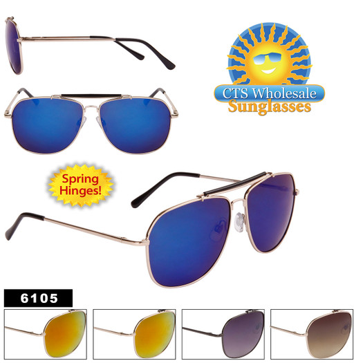Aviators by the Dozen - Style #6105 Spring Hinge