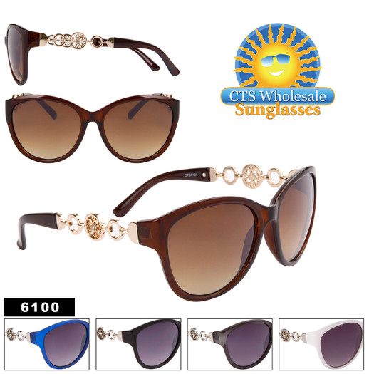 Women's Rhinestone Sunglasses in Bulk - 6100