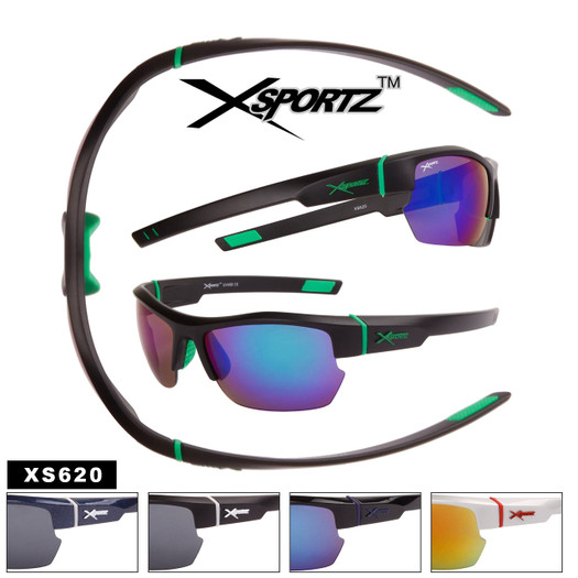Xsportz™ Semi-Rim Wrap Around Sport Sunglasses - Style #XS620