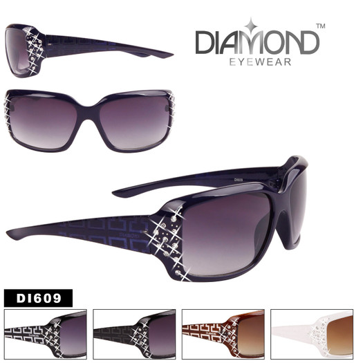 Diamond™ Over-Sized Square Rhinestone Embedded Sunglasses - Style #DI609