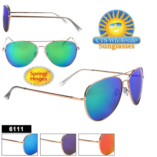 Mirror Aviator Sunglasses - Style #6111