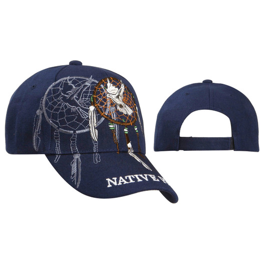 Baseball Caps Wholesale ~ Dreamcatcher with Dove ~ Navy Blue