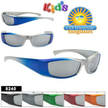 Mirrored Spider Web Sunglasses For Kids - Style #8240