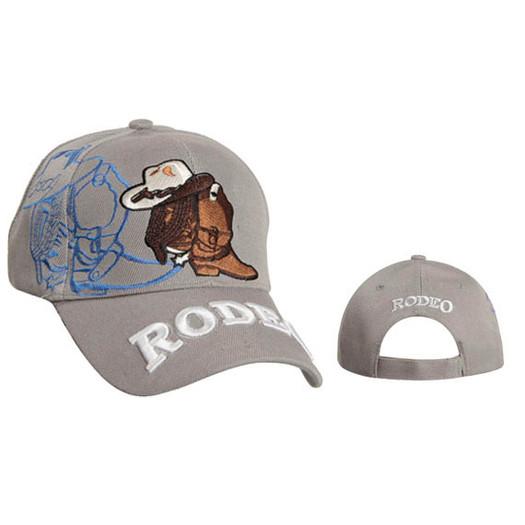 Rodeo Wholesale Baseball Hat-Light Grey