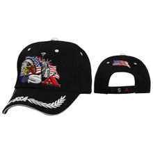 Patriotic Baseball Cap Black