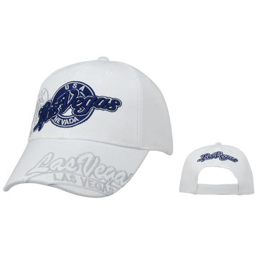 White Las Vegas Baseball Caps