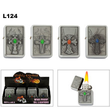 Oil Lighters with Crosses and Colored Stones