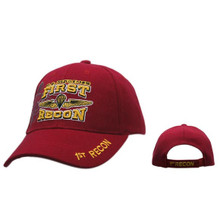 Red US Marines   First Recon Baseball Cap