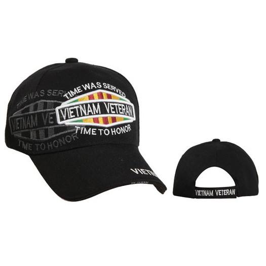 Wholesale Vietnam Veteran Cap-Black