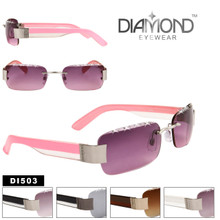 Diamond™ Eyewear Wholesale Rhinestone Sunglasses - Style # DI503