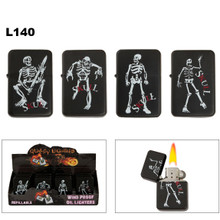 Lighters Wholesale with Skeletons on Black Finish