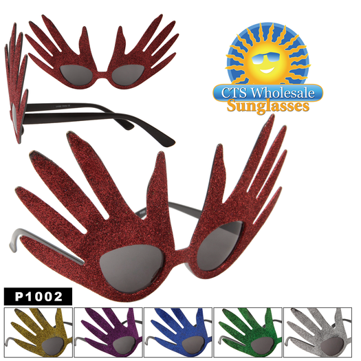 Touch of Fun Glitter Hand Party Glasses!