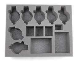 (Space Marines) 6 Space Wolves Thunderwolf 2 Rhino Foam Tray (BFL-3)